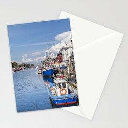 Baltic Coast Fishing Harbor Stationery Cards
