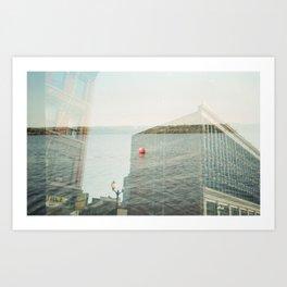 Lake Lister Block Art Print