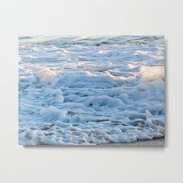 Sea Foam Shore Metal Print