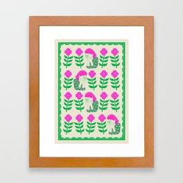 Don't be shy, shy girl, shy, print Framed Art Print