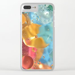 Colorful abstract bubbles Clear iPhone Case