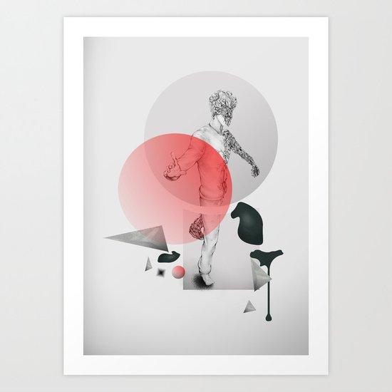 Walking In Space Art Print