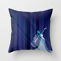 emily rickard Throw Pillows featuring Emily by Love Ashley Designs