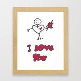 "Heartman ""I Love You"" Framed Art Print"