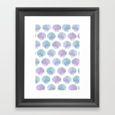 iridescent shells pattern Framed Art Print