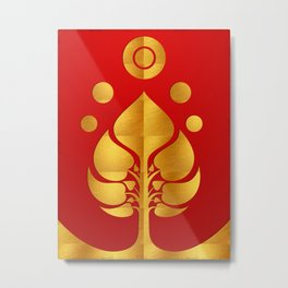 Bodhi Tree0301_GoldenDAY Metal Print