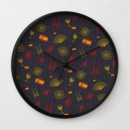 Spanish pattern Wall Clock