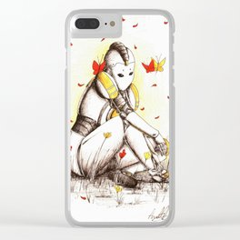 Robot 2 Clear iPhone Case