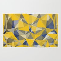 yellow pattern Area & Throw Rugs featuring Yellow by jbjart