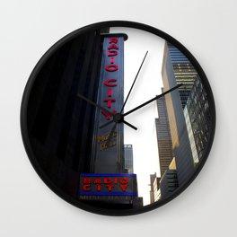 New York City Radio City Music Hall Wall Clock