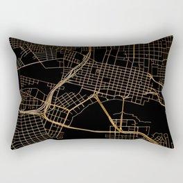 Black and gold Jacksonville map Rectangular Pillow