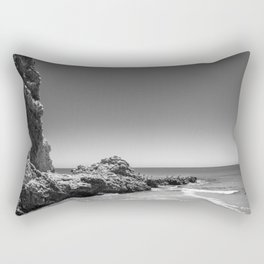 Birds sit on rocks along Rancho Palos Verdes coastline Rectangular Pillow