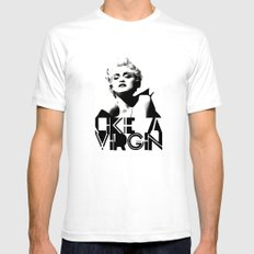 LIKE A VIRGIN Mens Fitted Tee SMALL White