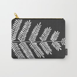 White Leaflets Carry-All Pouch