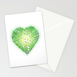 TechHeart (Green) Stationery Cards