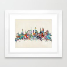 london city skyline Framed Art Print