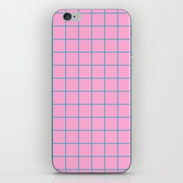 Grid Pattern - pink and teal - more colors iPhone Skin
