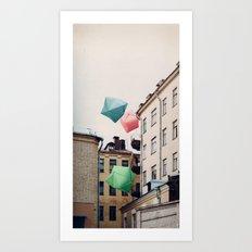 Paper bombies Art Print