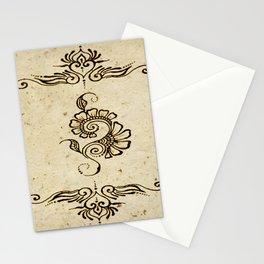 Henna Inspired 4 Stationery Cards