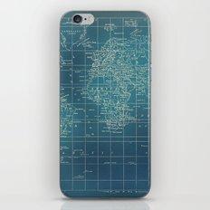 Grunge World Map iPhone Skin
