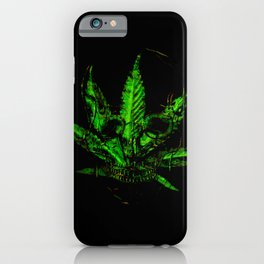 Pothead - Skull and Pot Plant iPhone Case