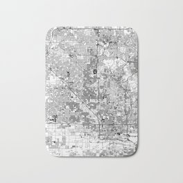 Phoenix White Map Bath Mat