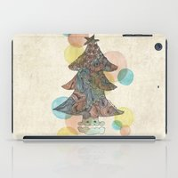 christmas tree iPad Cases featuring Christmas Tree by sinonelineman