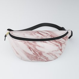 Deep rose pink marble Fanny Pack