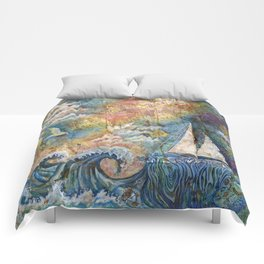 Dreaming at Sea Comforters