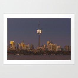 Toronto Supermoon. Art Print