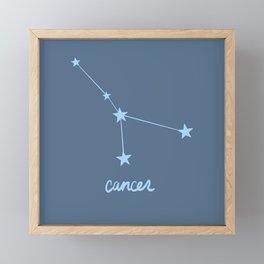 Cancer - Zodiac Constellation Framed Mini Art Print