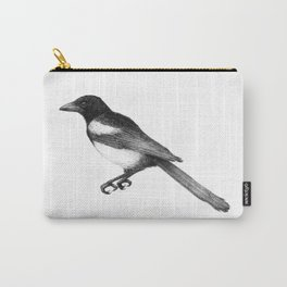 Magpie (Pica pica) - balck and white Carry-All Pouch