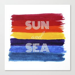 Sun and sea - summer waterolour fantasy Canvas Print