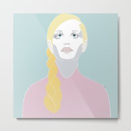 Pop art beauty Metal Print