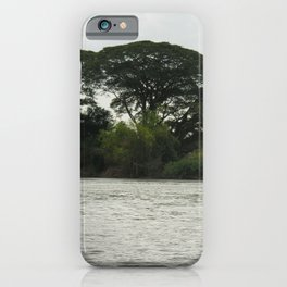 Tropical Forest Trees Evening Mekong River Ladscape, Laos iPhone Case