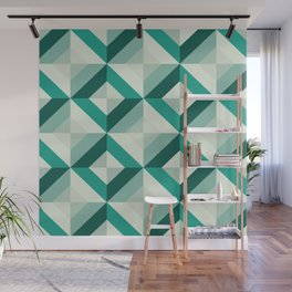 Emerald (Geometric pattern series) Wall Mural