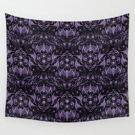 Bats and Beasts - ROYAL PURPLE Wall Tapestry