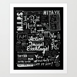 Vic Reeves Big Night Out catchphrases Art Print