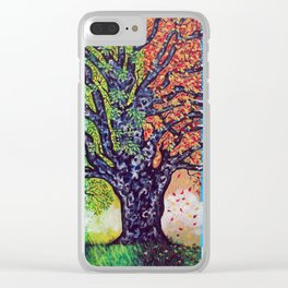 'A Tree For All Season' Clear iPhone Case