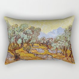 Vincent Van Gogh Olive Trees Rectangular Pillow