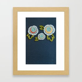 Floral Embroidery by SeptemberHouse Framed Art Print