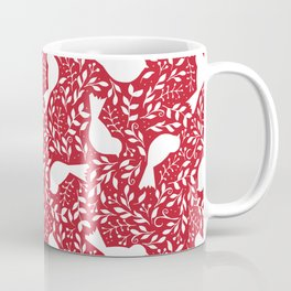 Birdie Bundle in Red Coffee Mug