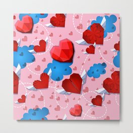Hearts pattern for textile or wallpaper Metal Print