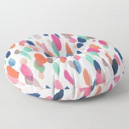 Watercolor Dashes Floor Pillow