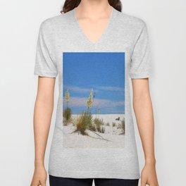 Soap Yucca At White Sand Unisex V-Neck