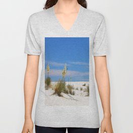 Soap Yucca At White Sand Unisex V-Neck