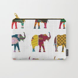 RetroAfro Elephant Print Carry-All Pouch