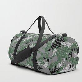 Computer Circuit Camo URBAN GAMER Duffle Bag