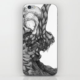 Bear in forest iPhone Skin