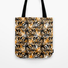 Aztec Pattern Orange Tote Bag
